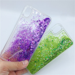 Case For iPhone 11 Pro Xs Max 7 8 Plus 6S Love Heart Star Glitter Dynamic Liquid Quicksand Soft TPU Phone Back Cover