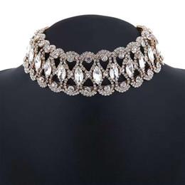 $enCountryForm.capitalKeyWord Australia - full diamonds chokers women crystal short necklaces girl fashionable jewelry evening dress accessories three colors silver golden black