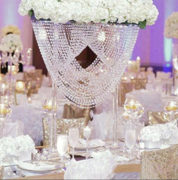 Flowers For Cake Decoration Australia - Crystal Wedding Centerpiece Flower Stand Candle Holder Cake Stand for Wedding Party Event Decoration WT099
