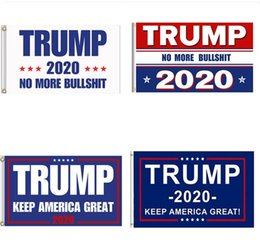 3x5 donald trump flags NZ - 8 Styles American USA Polyester Flag Keep America Great Donald Trump 2020 Bule Flags with Brass Grommets Outdoor Yard Flag Kit 3x5 Ft M527F