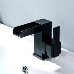$enCountryForm.capitalKeyWord NZ - Black Basin Bathroom Sink Faucet Waterfall Faucet Single Hole Single Handle Vessel Sink Brass ORB Hot Cold Mixer Tap