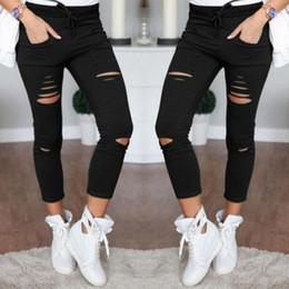 $enCountryForm.capitalKeyWord Australia - New Skinny Jeans Women Shredded Pants High Waist Pants Women Trousers Women Leggings Hole Sweatpants Black Ripped Jeans