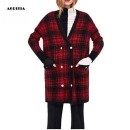 $enCountryForm.capitalKeyWord Australia - Nice Women Winter Coat Woolen Jackets Pocket Double Breasted Outerwear Plaid Coat