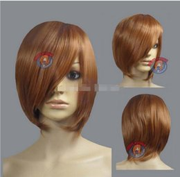$enCountryForm.capitalKeyWord NZ - FREE SHIPPING+ + + Light Brown Layer Bob Cut Short Cosplay Wig - 16 inch High Temp - CosplayDN Kanekalon hair no lace front wigs