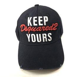 7a1dd88381f 2019 new design top quality FASHION Letters D2 ICON cap Adjustable Cotton  brand Luxury cap Hip hop caps Baseball Hats men women