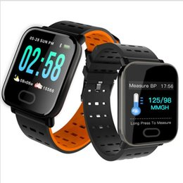 Water Resistant Gps Australia - HOT A6 Fitness Tracker Wristband Smart Watch Color Touch Screen Water Resistant Smartwatch Phone with Heart Rate Monitor pk fitbit id115