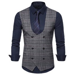 China Fashion Suit Vest Men Formal Dress Vest Colete Masculino Herringbone Gilet Fitness Sleeveless Jacket Wedding Waistcoat Men 2XL supplier men s sleeveless jackets suppliers