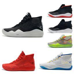 Discount kd elite shoes size men - 2019 Hot Mvp Kevin Durant KD 12 Anniversary University 12S XII Oreo Men Basketball Shoes USA Elite KD12 Sport Sneakers S