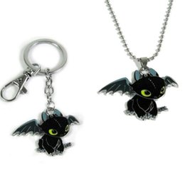 Necklaces Pendants Australia - How to Train Your Dragon toys figures keychain New Fashion Cute Toothless Necklace Pendant keyring for kids toys