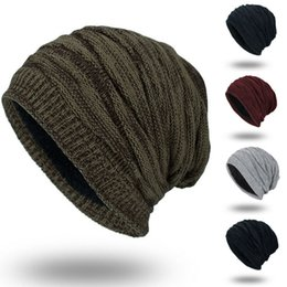 womens baggy beanie hats UK - Men's Womens Knit Baggy Beanie Oversize Winter Warm Hat Ski Slouchy Thick Cap