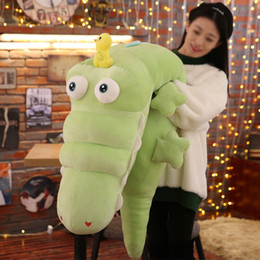 Crocodiles Alligator Toys Australia - Dorimytrader New Cute Soft Cartoon Crocodile Plush Toy Large Stuffed Anime Alligator Doll Animals Pillow Gift 120cm 150cm 180cm
