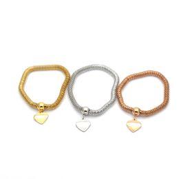 $enCountryForm.capitalKeyWord Australia - mujer pulseras Lantern chain bracelet wholesale stainless steel bracelet with heart shape three colors Br04226