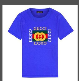Hot Cotton Brand T Shirts Australia - 2019 new Luxury summe Hot brand 1-9 years old Baby boys girls T-shirts r shirt Tops cotton children Tees kids Clothing 2 colors BODFEWS
