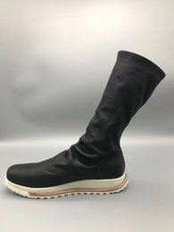 stripping rubber NZ - Elastic cotton sheepskin rubber sole boots Italy imported tree cream leather strip long boots PU shock insoles high-end fashion men's boots