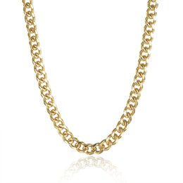 Men 7mm Silver Chains UK - New Arrival Top Sale Men's 18K Gold plated Jewelry 7mm Width Links Chain Necklace Men Jewelry High Quality-P