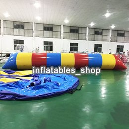 Year Old Games Australia - Free Shipping ! Free Pump ! 9x2m Water Inflatable Game Inflatable Water Blob,Aqua Blob Jump,Water Catapult Blob For Sale
