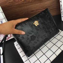 Folding handbags online shopping - professional pu leather clutch cosmetic bag Crocodile Pattern PU Leather Folded Women Handbag and Clutch Bag