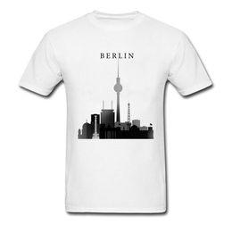 Tshirt Men Graphic Australia - Group T Shirt Berlin Graphic Tshirt Silhouette Men T-Shirt 2018 Hot Sale Summer Autumn Clothes 100% Cotton Fabric Tops Tees