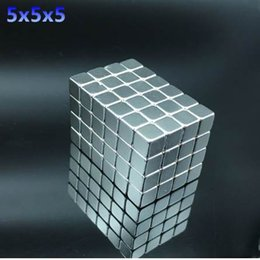 Small Neodymium Magnets Australia - 50pcs Neodymium magnet 5x5x5 Rare Earth small Strong block permanent 5*5*5mm fridge Electromagnet NdFeB nickle magnetic square