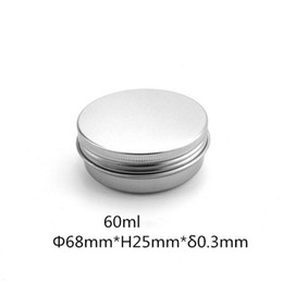 Discount nail lips - 60ml Empty Aluminum Cream Jar Tin Cosmetic Lip Balm Containers Nail Derocation Crafts Pot Bottle Free Shipping
