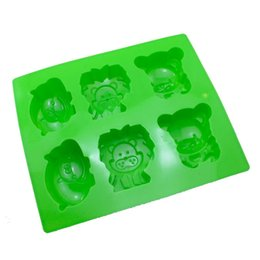 Rectangle soap mould online shopping - Green Lion Hippopotamus Cake Mould Pure Color Rectangle Silica Soap Molds Food Grade Baking Products Easy Demoulding DIY Lovely ycb1