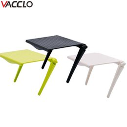 Folding Computer Tables Australia - wholesale 1pc Table Desk Accessories Office Storage Rack Clip Computer Screen Makeup Organizer for Cosmetics Table Home