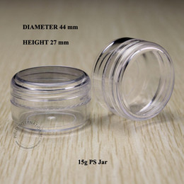 $enCountryForm.capitalKeyWord Australia - 100pcs 15g Clear Empty Small Plastic Jars Bottles Cosmetic Jar Pot Box with Lids Sample Mini Cream Cosmetic Containers Packaging