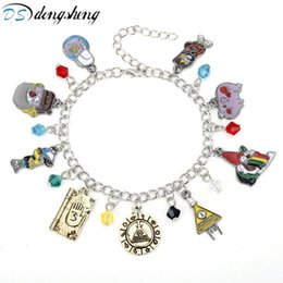 fall bracelets UK - dongsheng Cartoon Jewelry Gravity Falls Bracelet Dipper And Mabel Figure Cosplay Crystal Anime Bracelets for Women Girl Gift-25