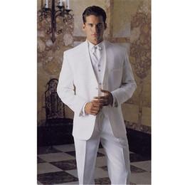 Discount royal ball suit - Custom new white men's classic suit ball gown men's groom suit men's suit (jacket + pants + vest) custom