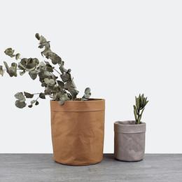 $enCountryForm.capitalKeyWord Australia - Instagram Kraft Paper Bags Planters Flower Pots Washable garden pots multi-function Storage Bag succulent planters Decoration