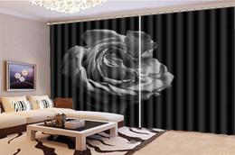 $enCountryForm.capitalKeyWord NZ - Photo Curtain Promotion Delicate Retro Rose Decoration Indoor Living Room Bedroom Kitchen Window Blackout Curtain