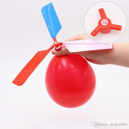 Children Toy Helicopter Australia - 2018 hot sale flying Balloon Helicopter DIY balloon airplane Toy children Toy self-combined Balloon Helicopter free shipping