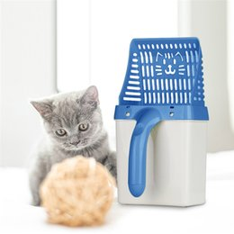 sand tools 2019 - Cat Litter Shovel Pet Cleanning Tool Plastic Scoop Cat Sand Cleaning Products Toilet For Dog Food Spoons litter scoop di