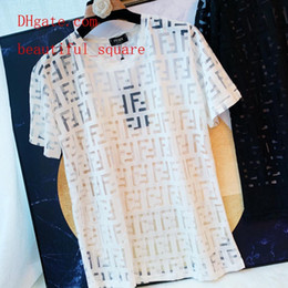 Vente en gros robes d'été marque femmes mode t-shirts tee shirt femme sexy perspective t-shirt décontracté femmes tops blanc top femmes