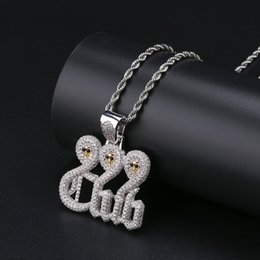 Necklaces Pendants Australia - Ice Out Skull Pendant Men Hip Hop Jewelry 18K Gold Plated 999 Club Charm Bling Cubic Zirconia Mens Necklaces