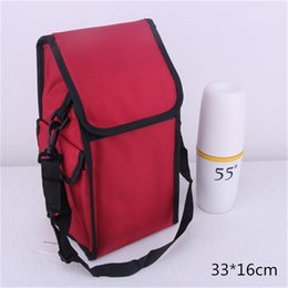Heated luncH box online shopping - Square Red Lunch Box Bag Heat Insulation Pure Color Wrap High Capacity Picnic Aluminum Foil Package Portable jdC1