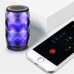 $enCountryForm.capitalKeyWord Australia - 2019 Mini Portable Bluetooth Speaker LED Lamp Speaker Colorful Wireless Bluetooth Deep Sub woofer Stereo