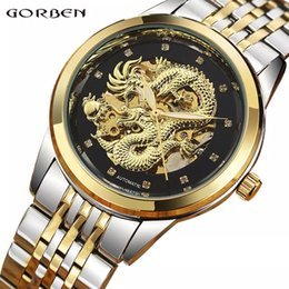 $enCountryForm.capitalKeyWord Australia - Luxury Dragon Skeleton Automatic Mechanical Watches For Men Wrist Watch Stainless Steel Strap Gold Clock Waterproof Mens relogio