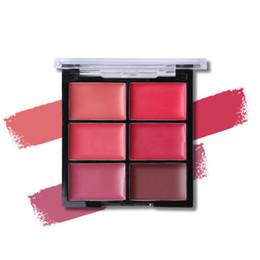 Lip Palette Wholesale UK - Sexy Lipstick Makeup 6 Colors Matte Lipstick Palette Waterproof Nude Lip Gloss Creamy Pigment Moisturizer Long-lasting Cosmetic#