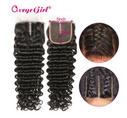 $enCountryForm.capitalKeyWord Australia - Brazilian 5x5 Lace Closure With Baby Hair Deep Wave Bundles Free Middle Three Part Remy Hair Human Hair