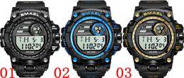 $enCountryForm.capitalKeyWord Australia - SMAEL 1539 Sport Outdoor Waterproof Watches Led Display Chronograph Alarm Wrist Watch Military Black Digital Wristwatch