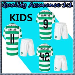 601a1a989 18 19 TOP QUALITY Celtic kids Soccer Jersey SINCLAIR ROBERTS DEMBELE BROWN  GRIFFITHS ROGIC McGREGOR 2018 2019 Home Green Football uniform