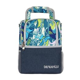 Picnic Ice Packs Australia - Waterproof Double Layer Cooler Bag Leak Proof Cool Backpack Breast Milk Fresh Carrier Ice Pack Thermal Lunch Picnic Shoulder Bag