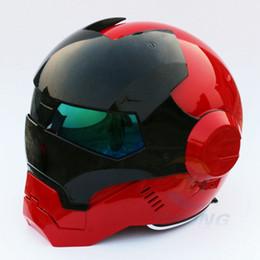 $enCountryForm.capitalKeyWord Australia - New Masei Bright Red & Black Mens womens IRONMAN Iron Man helmet motorcycle half helmet open face ABS casque motocross