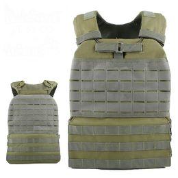 Formazione Gilet Tattico Body Armor Cs Wargame Combattimento Paintball Maglia Molle Piatto Carrierr Gilet in Offerta