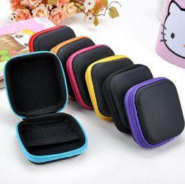 $enCountryForm.capitalKeyWord Australia - Headphone Case PU Leather Earbuds Pouch Mini Zipper Earphone box Protective USB Cable Organizer Fidget Spinner Storage Bags 5 Colors LX7299