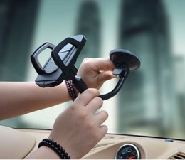 long arms mobile phone holder NZ - Long Arm Windshield mobile Cellphone Car Mount Bracket Holder for mobile phone Stand for iPhone GPS MP4