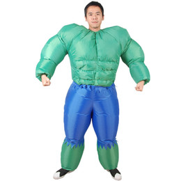 Chinese  Adults The Hulk Inflatable Costume Superhero Role-play Halloween Christmas Funny Inflatable Toys Gifts Superhero Muscle Costumes manufacturers