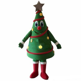 tree costumes Australia - 2018 High quality hot Green Christmas Tree Mascot Costume Free Shipping