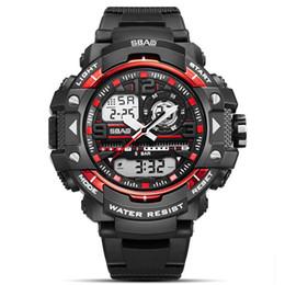 1250f6767817 SBAO Hombres Natación Reloj Deportes Reloj de Cuarzo Resistente Al Agua  Reloj Electrónico Relojes de Pulsera Multifunción Luminoso Alarma Fecha Top